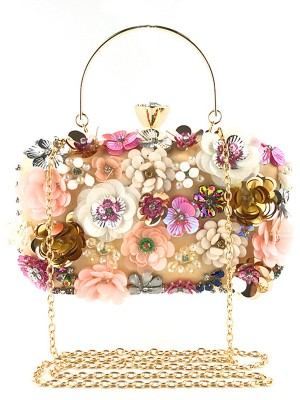 Fashion Satin Flowers Evening/Casual Bags For Women