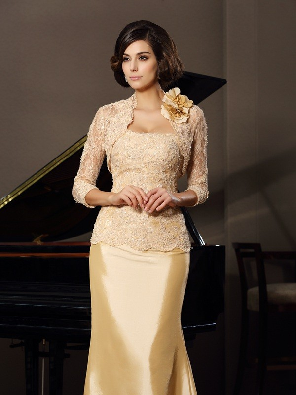 Lace 3/4 Sleeves Hand-made Flower Special Occasion Wrap