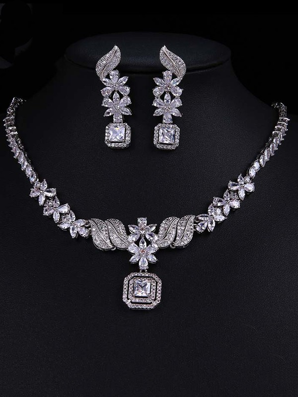 Lovely Alloy With Zircon Jewelry Set