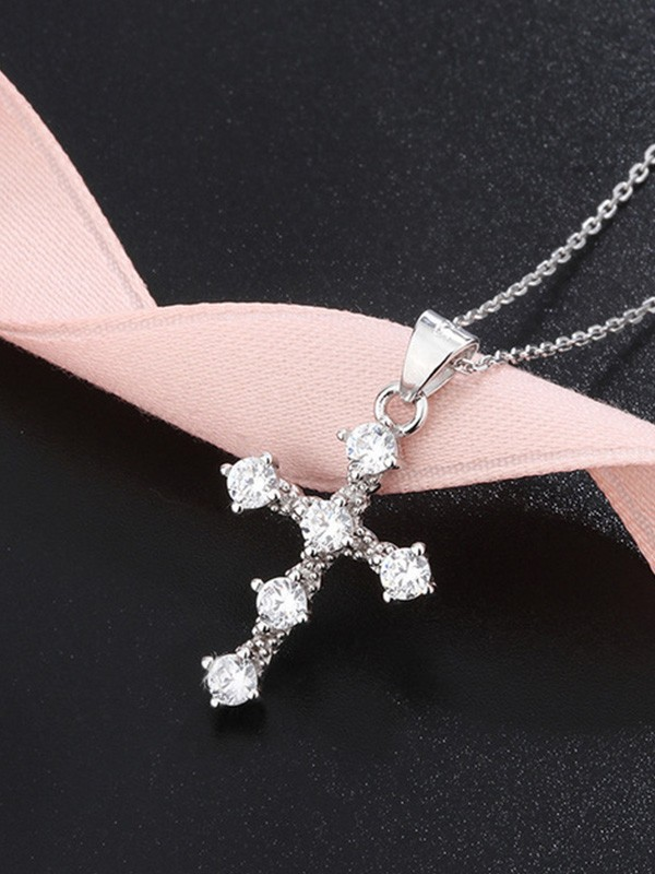 Brilliant S925 Silver With Rhinestone Necklaces
