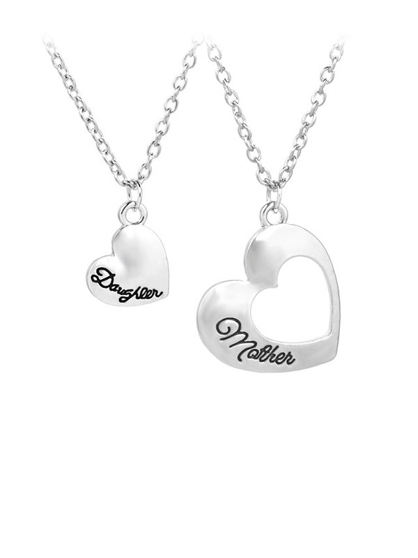 Pretty Alloy With Heart Necklaces