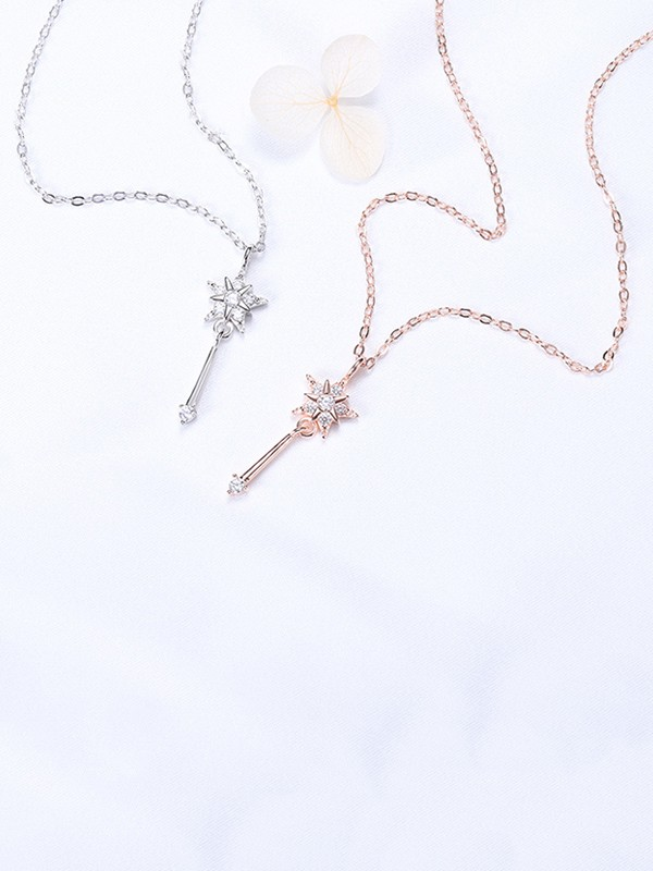 Unique S925 Silver With Rhinestone Necklaces