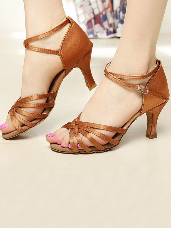 Hottest Satin Cone Heel Peep Toe Women's Sandals