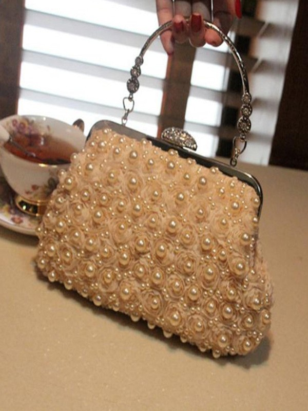 Attractive Pearl Evening/Party Handbags For Women