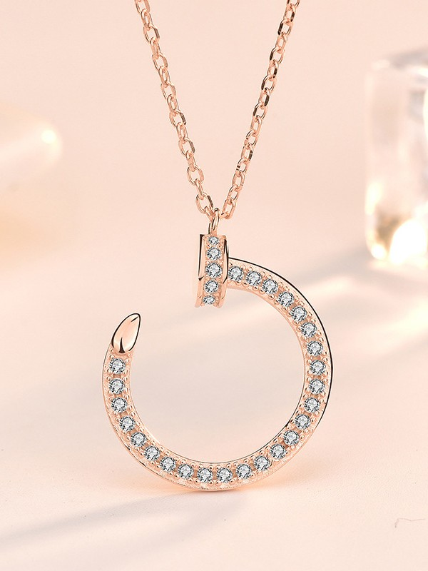 Charming S925 Silver With Zircon Hot Sale Necklaces
