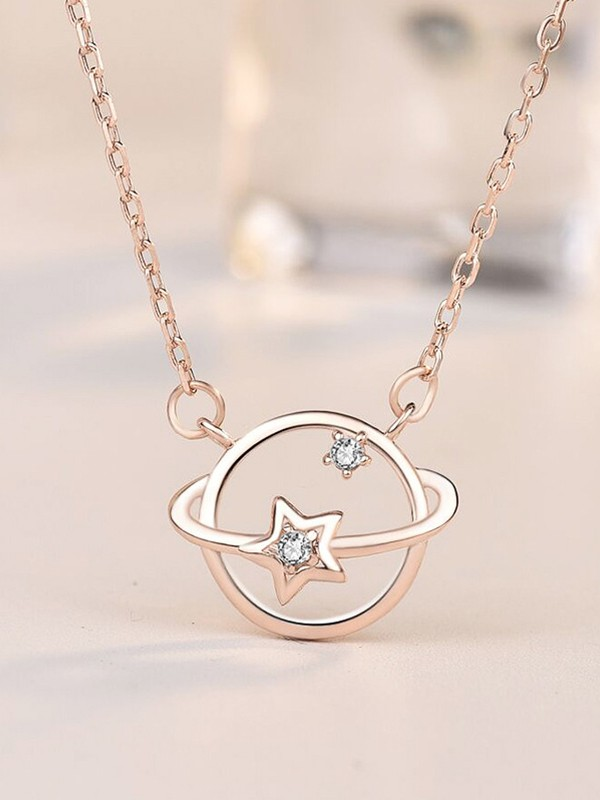 Brilliant S925 Silver With Zircon Necklaces