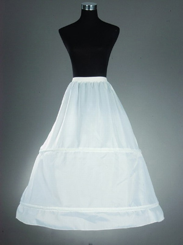 Nylon A-Line 1 Tier Floor Length Slip Style/Wedding Petticoats