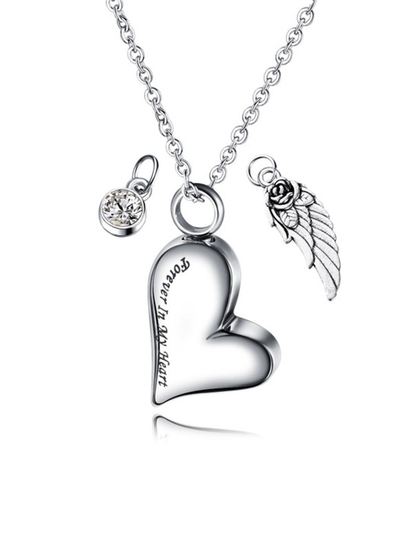 Chic Titanium With Love Necklaces