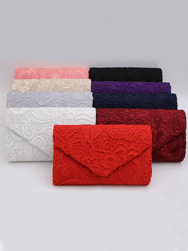 Pretty Lace Flowers Evening/Party Handbags For Women