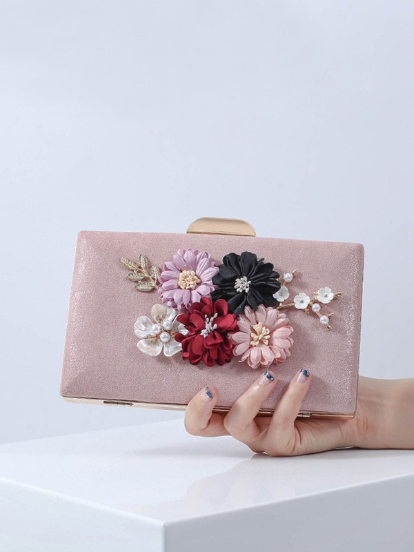 Pretty PU Flowers Evening/Party Handbags For Women
