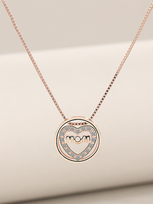 Elegant S925 Silver With Zircon Necklaces