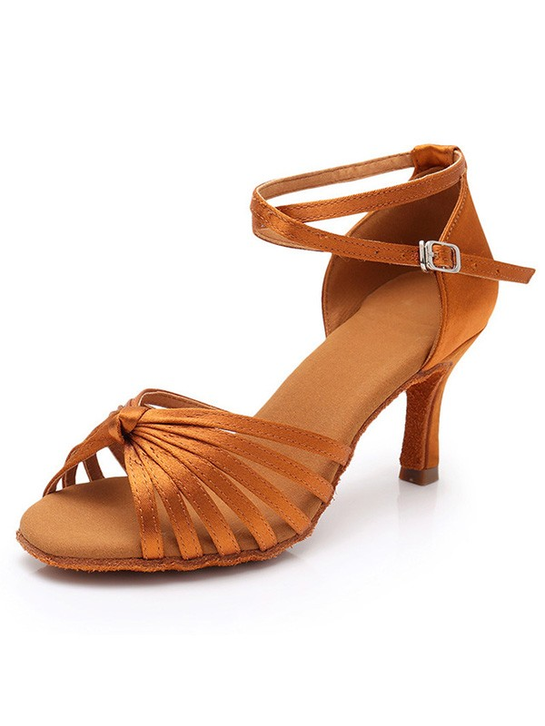 Perfect Silk Stiletto Heel Peep Toe Women's Sandals
