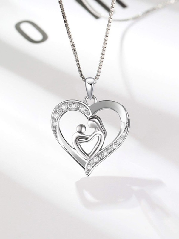Lovely S925 Silver With Rhinestone Hot Sale Necklaces