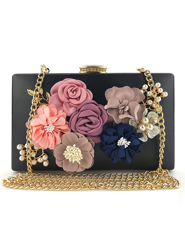 Elegant PU Flowers Evening/Casual Bags For Women