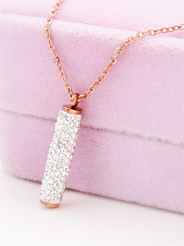 Classic Titanium With Rhinestone Hot Sale Necklaces