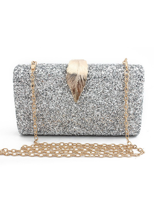 Luxurious Synthetic Leather Evening/Party Handbags For Women