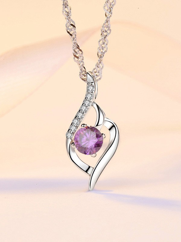 Classic Korean S925 Silver With Zircon Necklaces