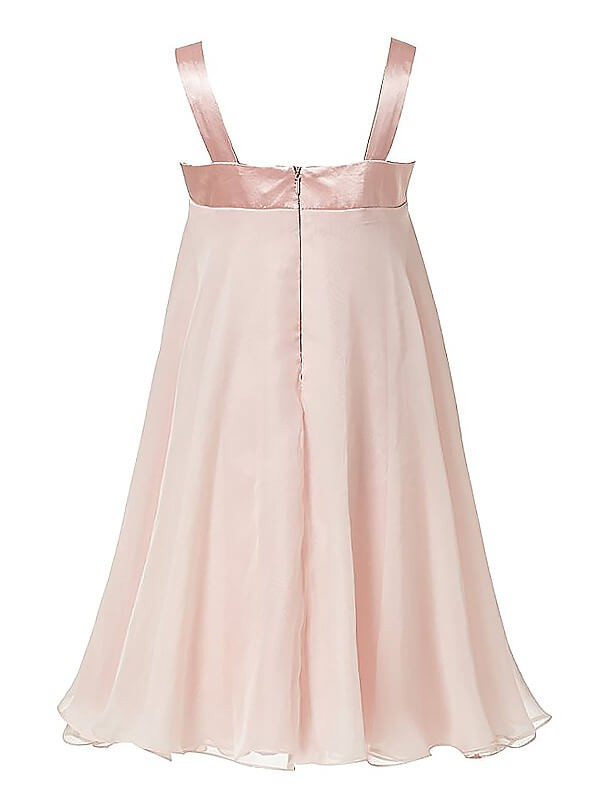 A-Line Sleeveless Straps Chiffon Ankle-length Flower Girl Dress