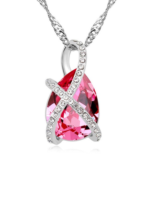 Charming Alloy With Crystal Necklaces