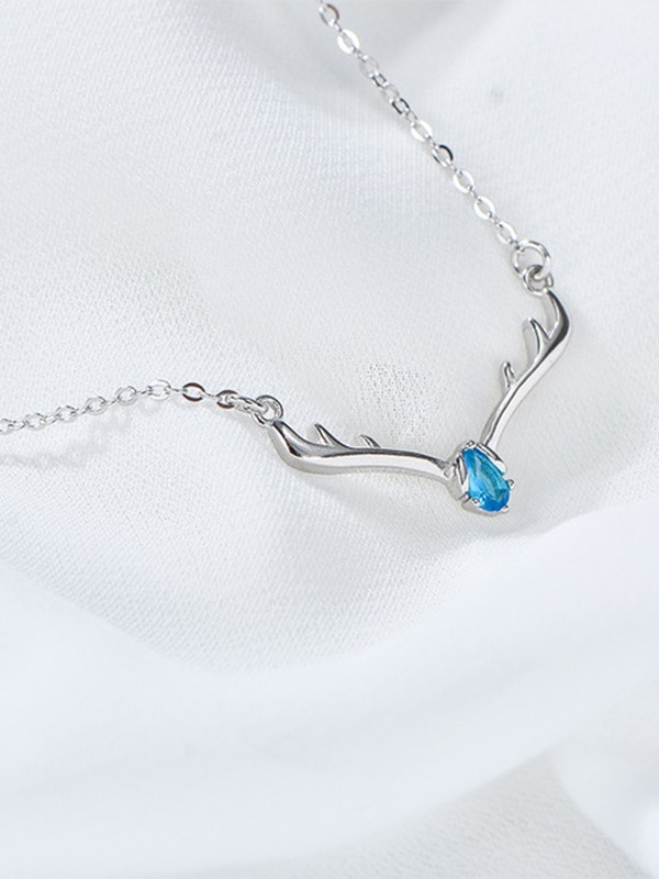 Luxurious S925 Silver With Rhinestone Necklaces