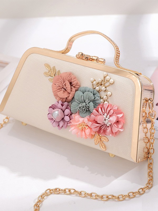 New Evening/Party Handbags With Flowers For Women