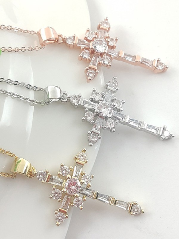 Beautiful Copper With Zircon Hot Sale Necklaces