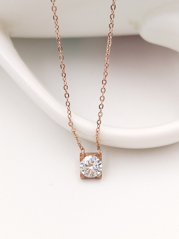 Trending Titanium With Zircon Necklaces
